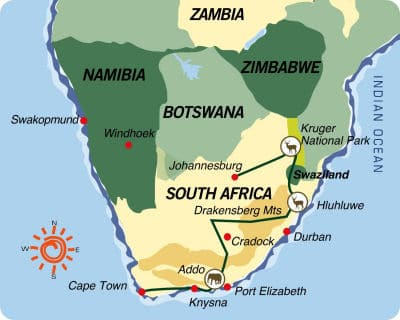 África do Sul-Swazilândia: Do Parque Kruger ao Cabo da Boa Esperança