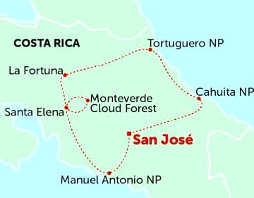 Costa Rica: Vulcões e Selva Tropical, do Pacífico ao Mar das Caraíbas