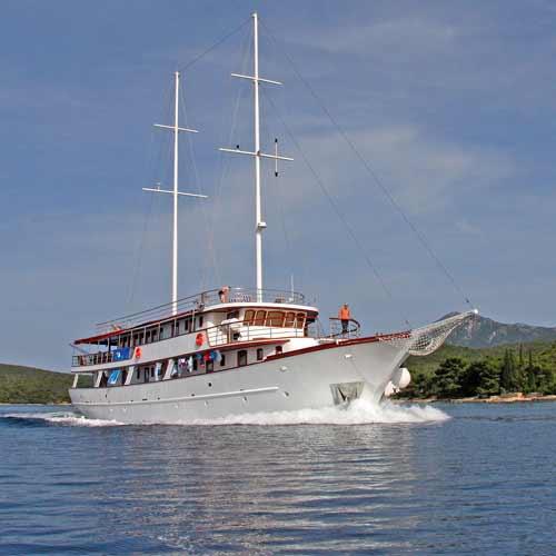 Navegação da Riviera de Makarska a Dubrovnik
