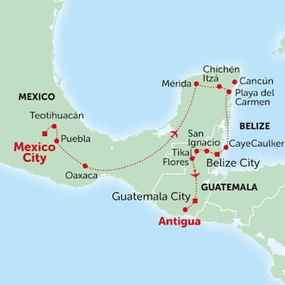 México-Belize-Guatemala: Península de Yucatán e a Rota dos Maias