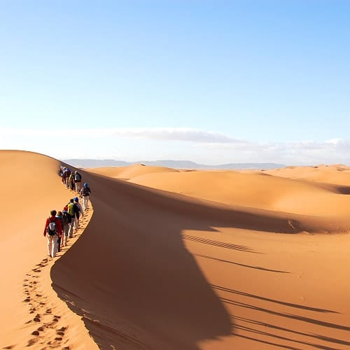 Marrocos, Caravana de Camelos