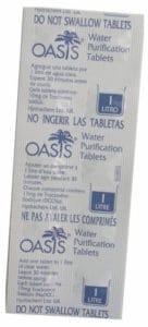 Oasis, comprimidos para desinfecção de água